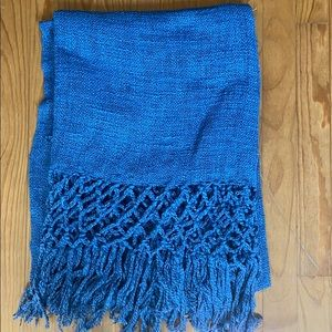 Blue Vince Camuto Knit Throw